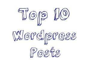 Top ten bloggers on wordpress