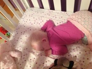 thumb sucking baby sleeping