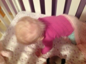 baby getting up after sleeping